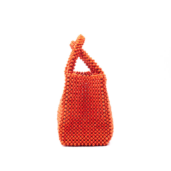 Paper beads colorful bag - orange -