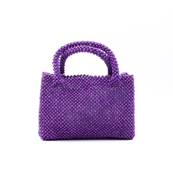 Paper beads colorful bag - Purple