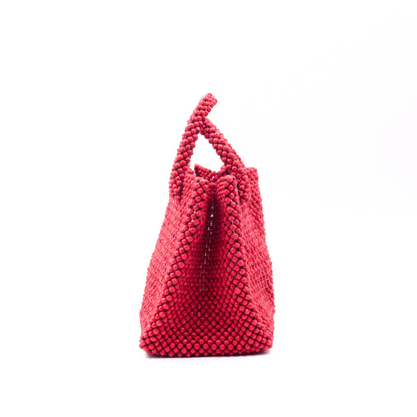 Paper beads colorful bag - red -