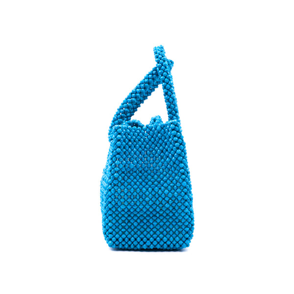 Paper beads colorful bag - Turquoise Blue