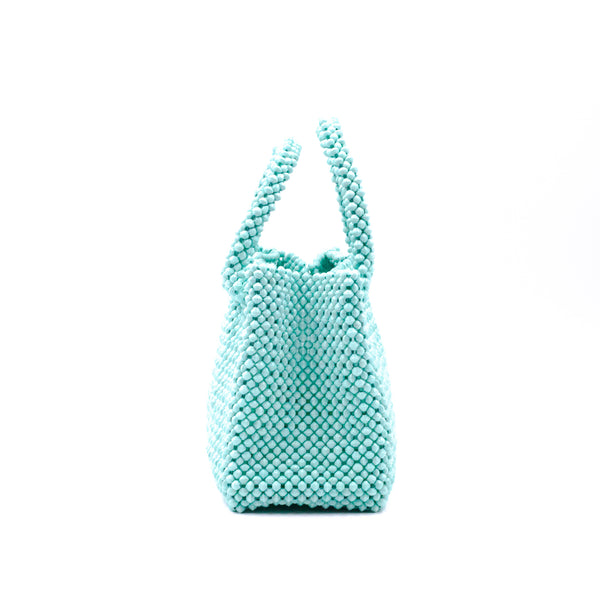 Paper beads - colorful bag-mint green -