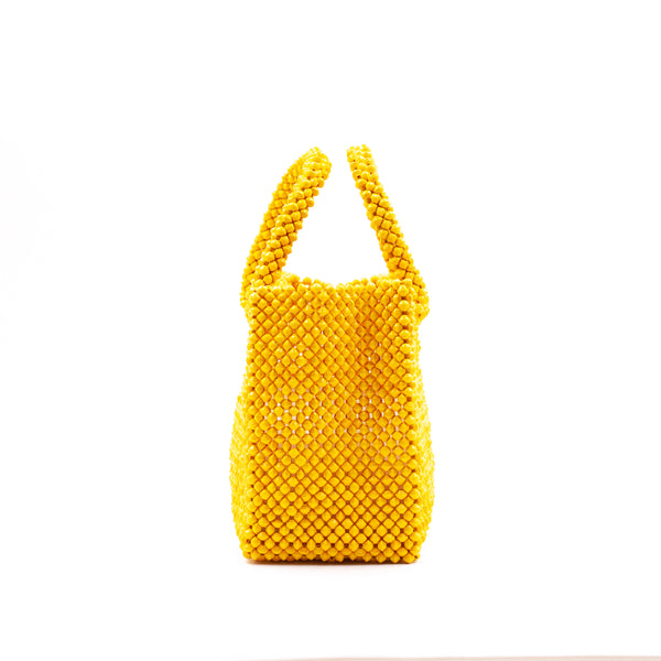 Paper bead colorful bags - yellow -