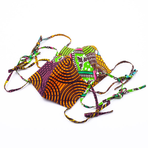 Set of 3 I Masks - Green & Orange -