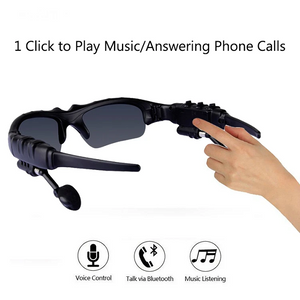 【Last Day Promotion 50% OFF】Multifunctional sunglasses bone transmission camera headset. Bluetooth wireless connection