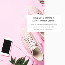Load image into Gallery viewer, Website Boost Mini-Workshop