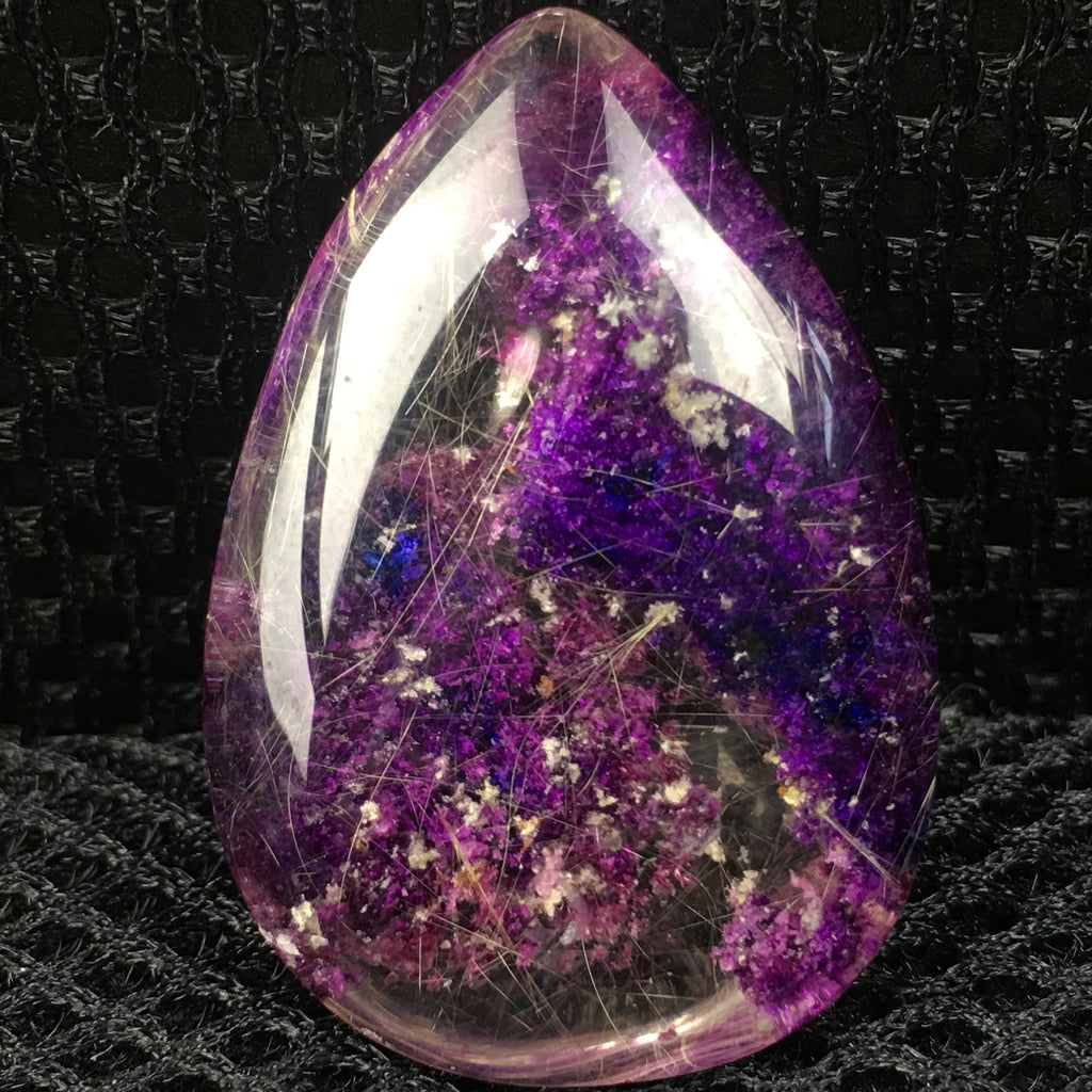 1pc Rare Purple ghost phantom pendant quartz crystal specimen polishing 10-25g