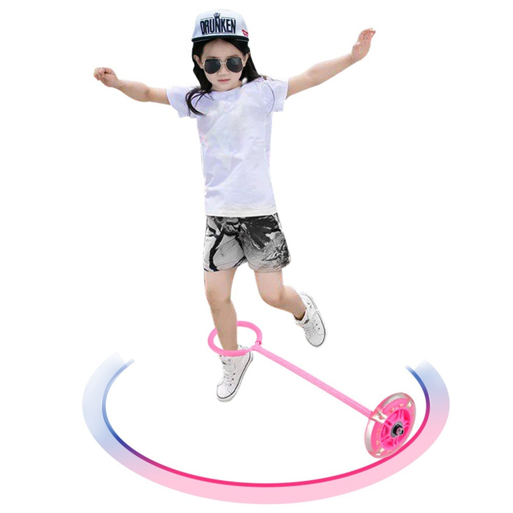 1Pcs LED Flashing Skip Ball Outdoor Fun Toy Jumping Balls Ankle Sport For Kids  isfang