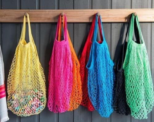 Reusable Shopping String Storage Mesh Bag Grocery Handbag Fishnet Woven Net Tote