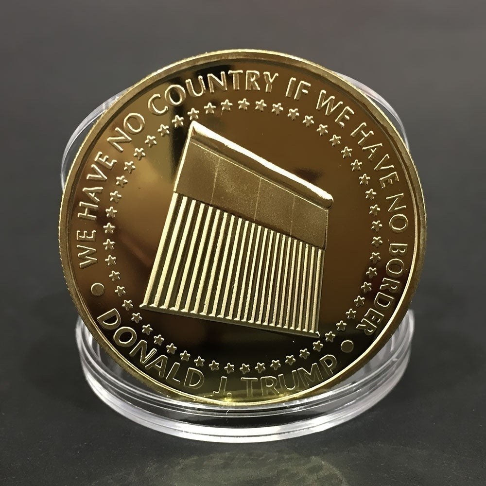 2020 Gold Donald Trump Commemorative Coin - Gold Collectible Coin of 45th President of the United States - Republican Collectibles Challenge Memorabilia Gift