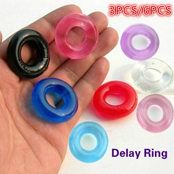 3/6 Pcs High Quality Ring Round Men Time Delay Rings Men's Fashion Fine Lock Loop Supplies Penis Rings Into Human Nature