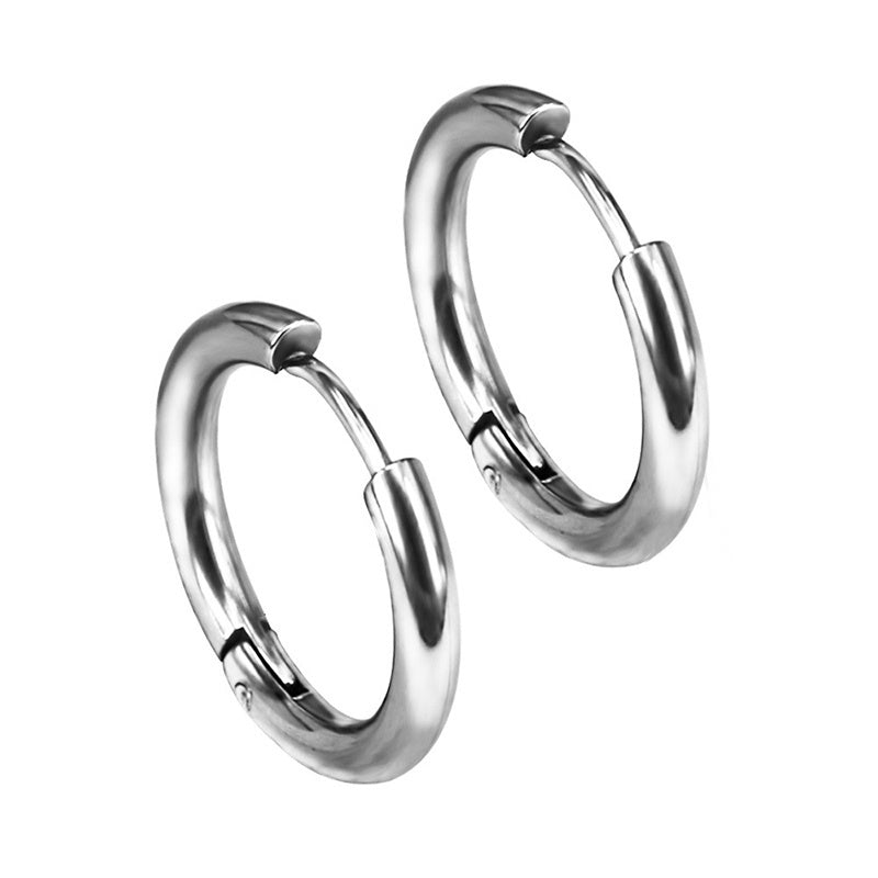 Women Ornaments Steel Jewelry Puncture Stainless Round Piercing Men Hypoallergenic Earrings
