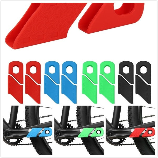 4PCS silicone bicycle crank protector sleeve arm protector bicycle protective cover cap