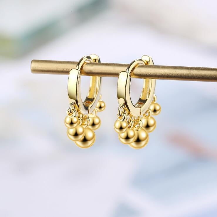 Fashion Newest 925 Sterling Plated Fish Tassel Dangle Earring for Woman Wedding Party Jewelry