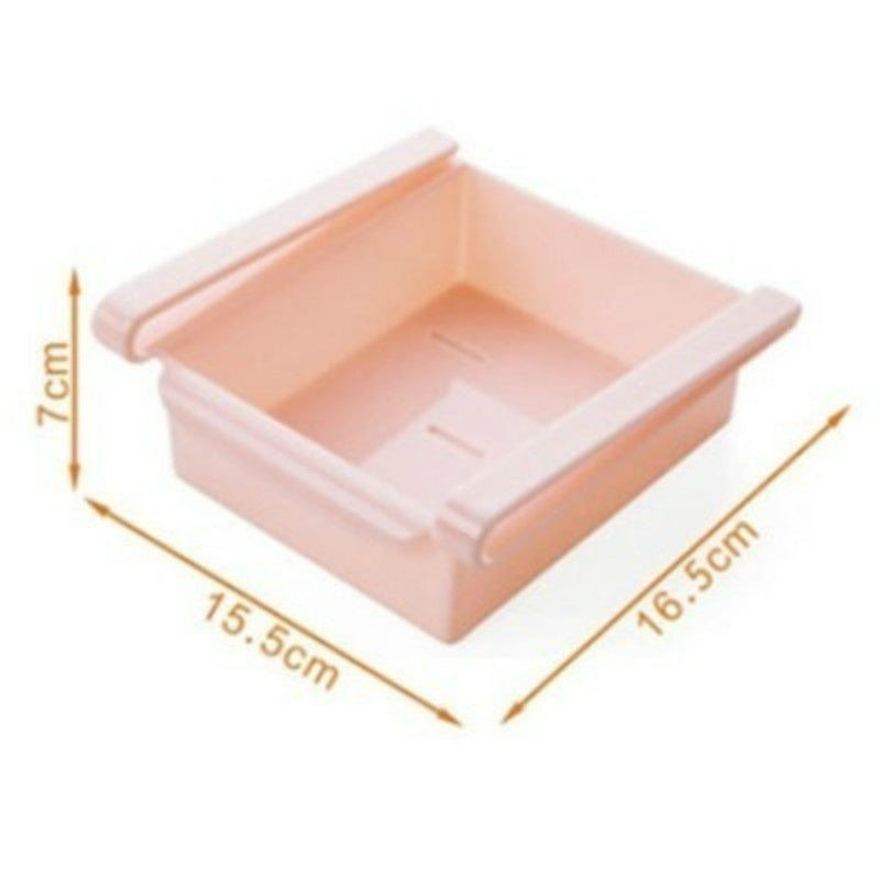 2 Size  6 Colors Slide Kitchen Fridge Freezer Space Saver Organizer High Quality ABS Plastic Storage Rack