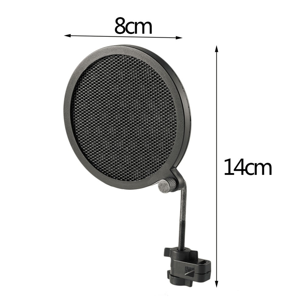 NEW Arrival PS-2 Double Layer Studio Microphone Mic Wind Screen Pop Filter Swivel Mount Mask Shied For Speaking Recording