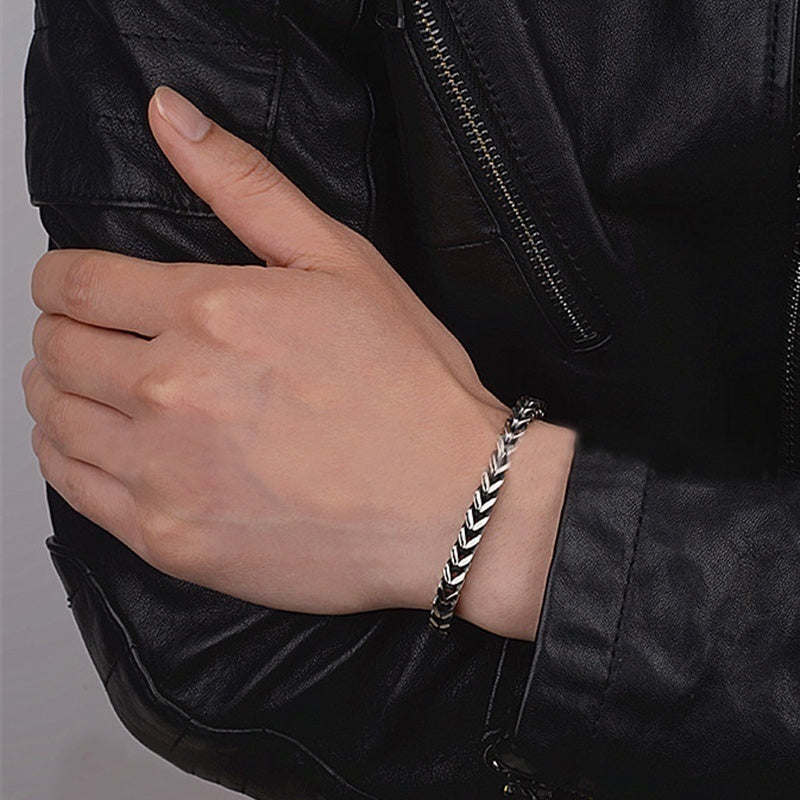 2018 Fashion Titanium Stainless Steel Bracelet for Men/Women (Size:6/12mm) Free Stuff