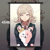 Danganronpa Kamukura Izuru x Nanami ChiaKi Anime HD Print Wall Art Poster Scroll Home Decoration