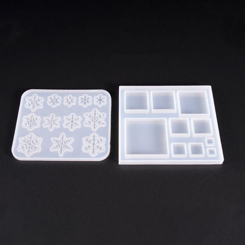 1 Piece Silicone Molds Snowflake Square Jewelry Mold DIY Jewellery Making Accessories UV Resin Tool IUW