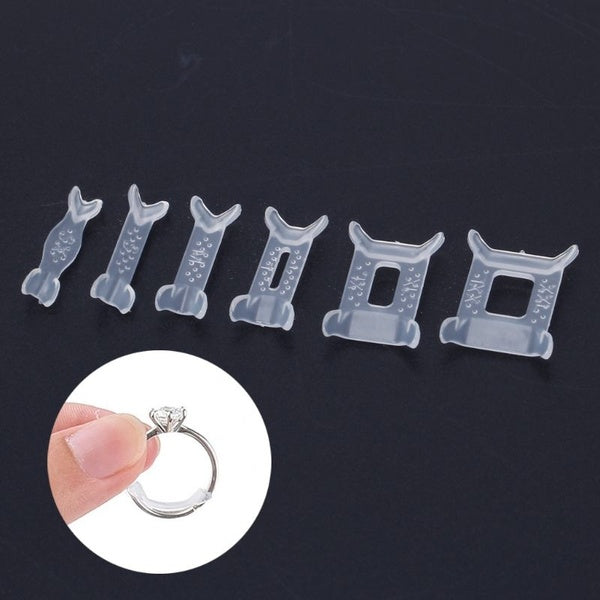12Pcs Invisible Ring Size Adjuster for Loose Ring Size Reducer Spacer Ring Reducer GYH