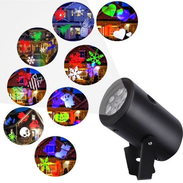 8 Patterns Projector Lights Garden Decorative Lamp Lighting Waterproof Sparkling Landscape Holiday Christmas Decoration