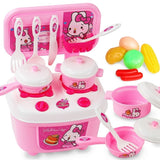 Simulation Girl's Toys Children's Kitchen Toy Set Girl Mini Kitchen Baby Simulation Cooking Utensils