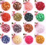 New 8 10 12 14mm Colour Gold Powder Round Acrylic Beads Spacer Loose Beads for Jewelry Making DIY Handmade Bracelet