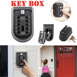 Wall-mounted Key Password Key Box Outdoor With Waterproof Cover Key Storage Box
