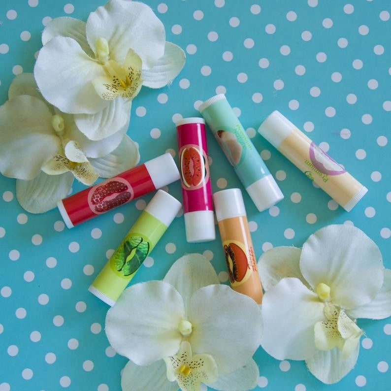 Lip Balm Moisturizer Chapstick Natural Plumper for Dry Lips Coconut Oil Beeswax