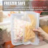 Reusable Storage Bags 10 Pack Leak Proof Freezer Bags(5 Reusable Sandwich Bags + 5 Reusable Snack Bags) Easy Seal Ziplock Lunch Bag for Kid Food Storage Home Organization Travel & Make Up BPA FREE