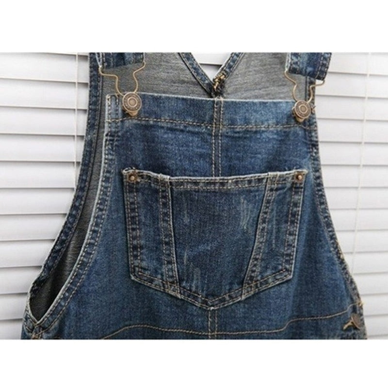 Plus Size XS-3XL New Womens Rompers Baggy Denim Jeans High Waist Casual Jeans Overalls