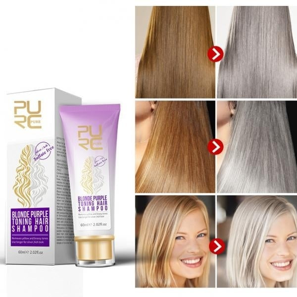 Salon Barbershop Blonde Hair Bleach Highlight Sulfate Free Purple Toning Shampoo