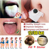 12/30PCS Dampness-Evil Removal Sticker Chinese Mugwort Navel Sticker Weight Loss Belly Patch