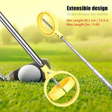 8 Sections Telescopic Golf Ball Retriever Picker Pick Up Stainless Steel Shaft