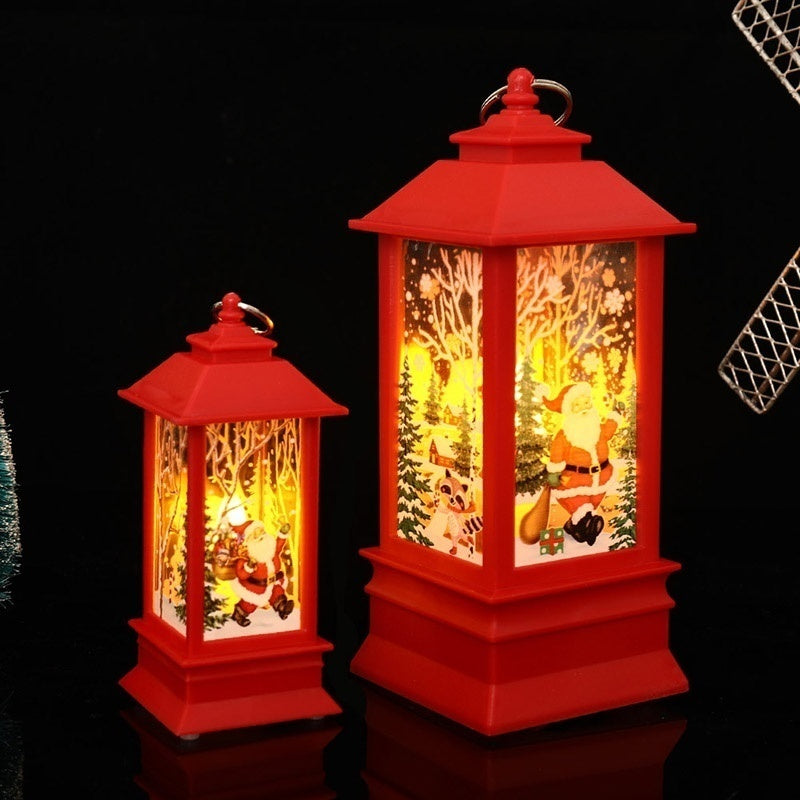 Christmas Carnival Led Candle Flame Light Lantern Wedding Holiday Party Table Lamps Xmas Tree Hanging Castle Fairy Lights