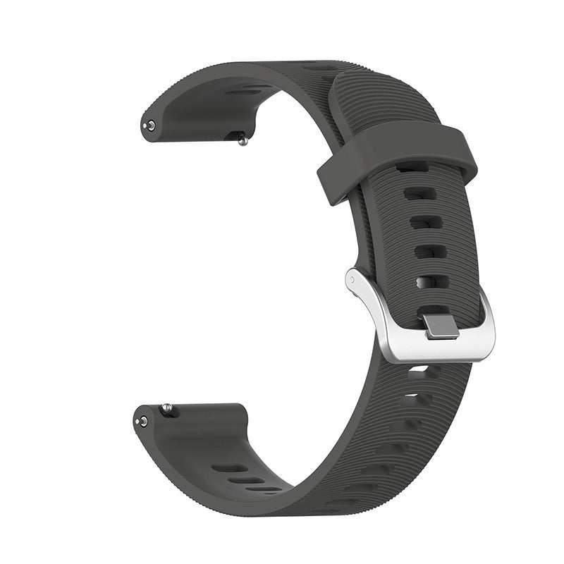 For Garmin Forerunner 245M/245 Smart Watch Silicone Band Adjustable Strap
