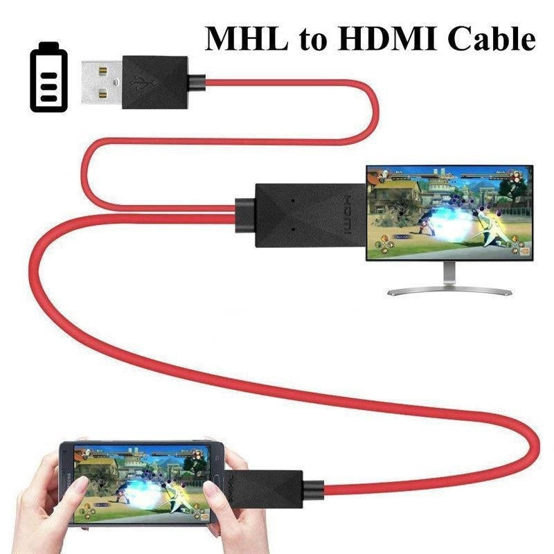 2M HDMI Adapter Micro USB To HDMI 1080P HD TV Cable Adapter for Samsung S3 S4 S5