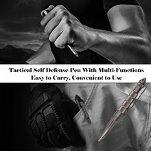 Load image into Gallery viewer, Camping Traveling Tactical Self Defense Pen Outdoor Pocket Glass Breaker Aluminum Emergency Survival Tool Writing Pen