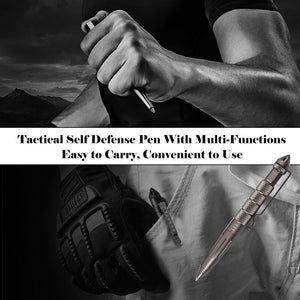 Camping Traveling Tactical Self Defense Pen Outdoor Pocket Glass Breaker Aluminum Emergency Survival Tool Writing Pen