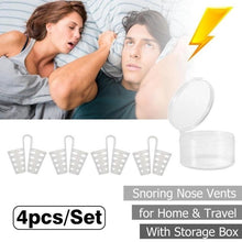 Load image into Gallery viewer, 8pcs Silicone Anti Snoring Breathe Easy Anti Sleep Snore-ceasing Equipment Mini Nasal Clip Anti-snoring Nose Clip