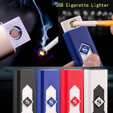 Load image into Gallery viewer, Excellent Gift USB Lighter Rechargeable Flameless Cigar Cigarette Electronic Lighter No Gas Colorful