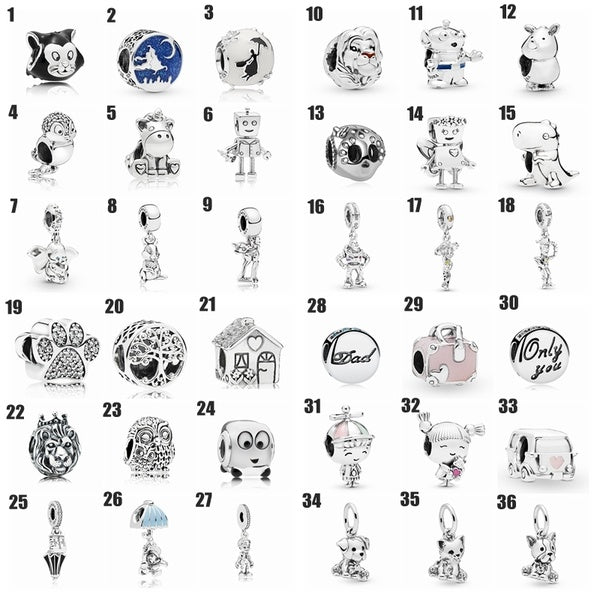 Original Diy Jewelry Making 925 Sterling Silver Charms European Czech Rhinestone Beads for Bracelets