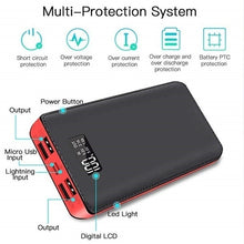 Load image into Gallery viewer, Power Bank 9900,000mAh Portable Charger with 2 LED Light 4A Input Ports for Phone