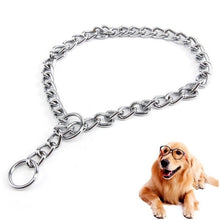 Load image into Gallery viewer, Hip Hop Bulldog Necklace Small Dog Puppy Collar Cat Stuff Silver Stainless Adjustable Chain Pet Jewelry Accessories