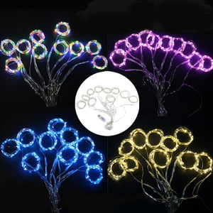 100/200/300LED Blue/White/Warm White/Multicolor Light Romantic Christmas Wedding Outdoor Decoration Curtain String Light
