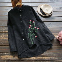 Load image into Gallery viewer, ZANZEA Womens Casual Loose Buttons Tops Ladies Cotton Shirt Blouse Plus Size