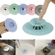 Load image into Gallery viewer, Sink Plugs Drain Hair Strainer Stopper Gadget For Kitchen Bathroom