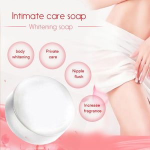 50ml/60ml New Natural Active Enzyme Body Whitening Crystal Soap Private Parts Tender Pink Bleaching Skin Fade Areola Nipples Perineum Elbow Remove Melanin Odor Handmade Charming Effective Flower Essential Oil Whitening Cream