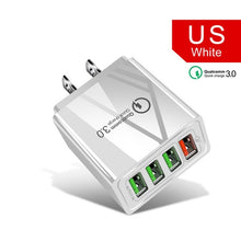 Load image into Gallery viewer, 48W Quick Charging 3.0 USB Wall Charger 4 Port US EU UK Plug Adapter For Mobile Phone Charger