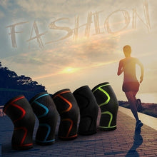 Load image into Gallery viewer, 1pc Running Fitness Hiking Cycling Sports Knee Pads Breathable Nylon Elastic Knee Brace Support