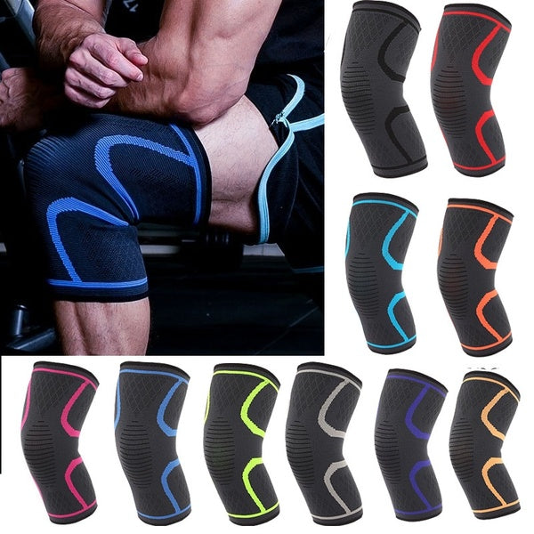 1pc Running Fitness Hiking Cycling Sports Knee Pads Breathable Nylon Elastic Knee Brace Support